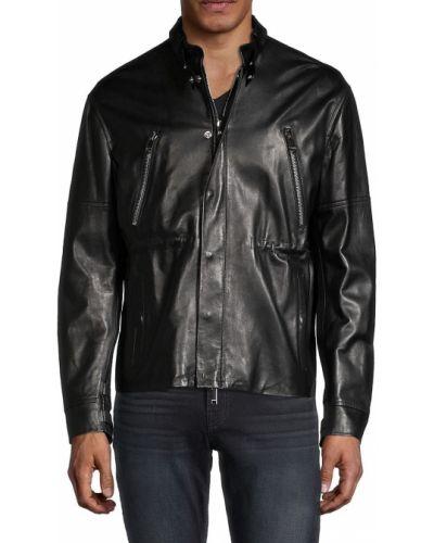 Кожаная куртка с воротником с длинными рукавами Valentino