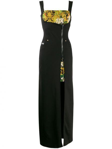Джинсовое платье макси на молнии Versace Jeans Couture