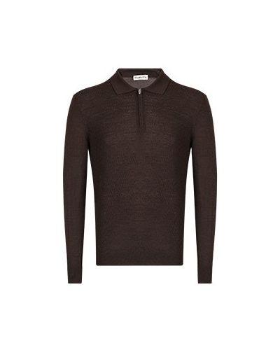 Коричневая рубашка Castello D'oro