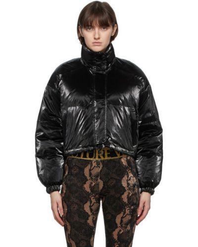 Пуховая черная куртка двусторонняя Versace Jeans Couture