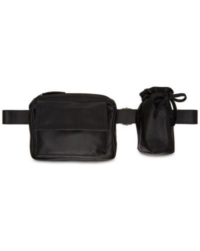 Кожаный черный ремень с поясом с заплатками Ann Demeulemeester