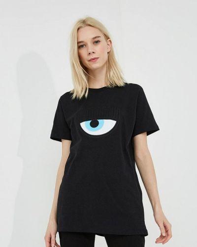 Футбольная черная футболка Chiara Ferragni Collection