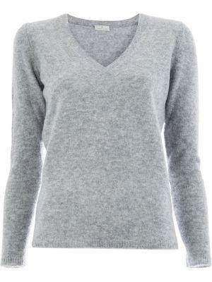 Z kaszmiru sweter z długimi rękawami z dekoltem w serek Maison Ullens