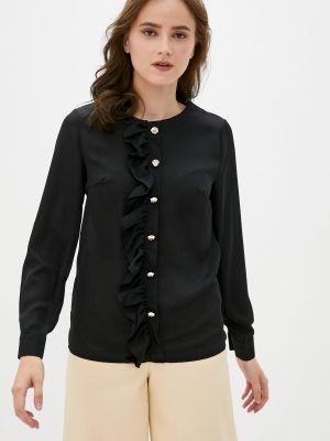 Черная блузка с длинными рукавами Indiano Natural