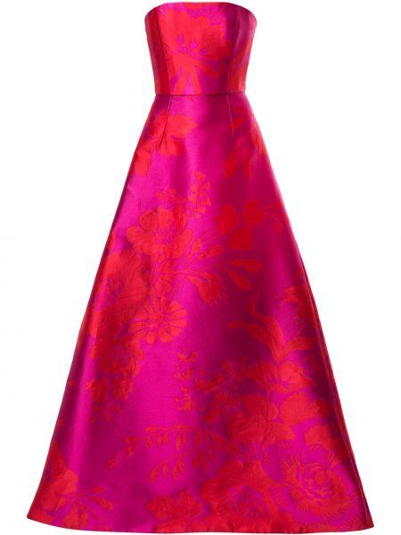 Розовое платье жаккардовое Carolina Herrera