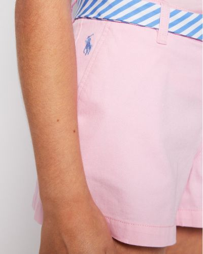 Różowe szorty chinosy materiałowe Polo Ralph Lauren