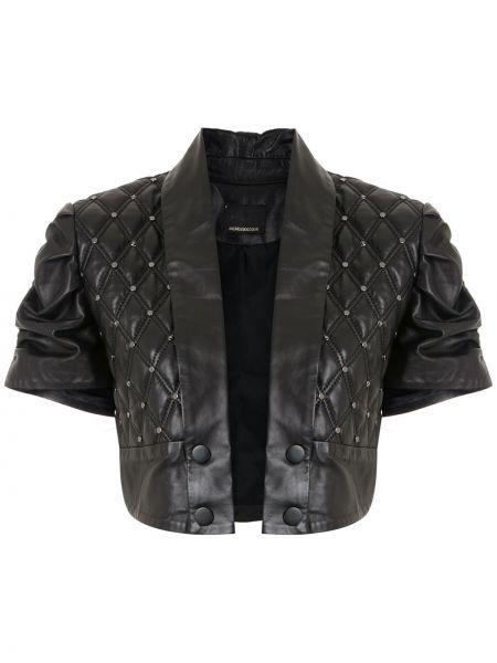 Черная кожаная куртка Andrea Bogosian
