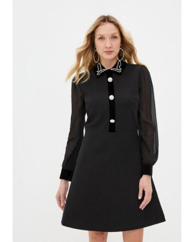 Прямое черное платье Silvian Heach