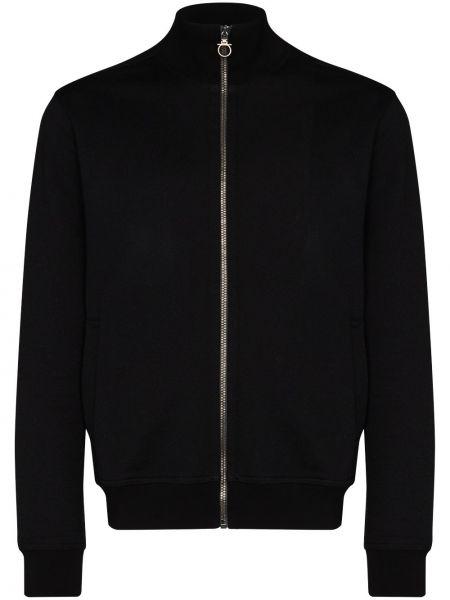 Czarna bluza z długimi rękawami bawełniana Salvatore Ferragamo