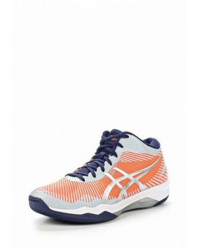 Оранжевые высокие кроссовки Asics
