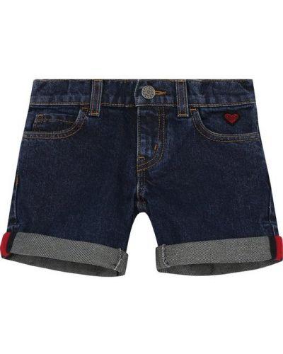 Джинсовые шорты с отворотами короткие Gucci