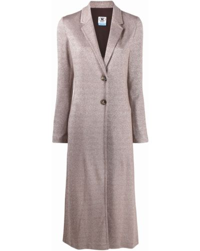 Однобортное коричневое пальто классическое на пуговицах M Missoni