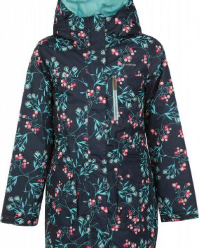 Синяя теплая приталенная куртка на молнии Outventure