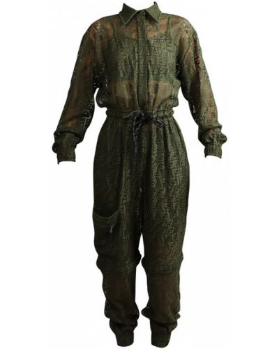 Zielony garnitur Fendi