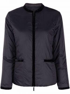 Черная длинная куртка Emporio Armani