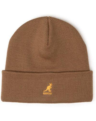 Brązowa czapka z akrylu Kangol