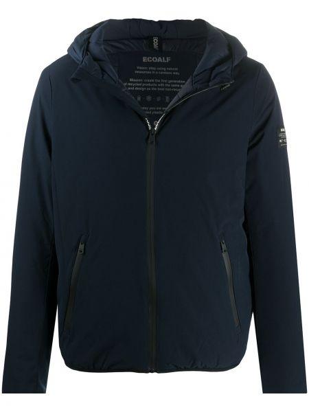 С рукавами классическая синяя куртка с капюшоном на молнии Ecoalf