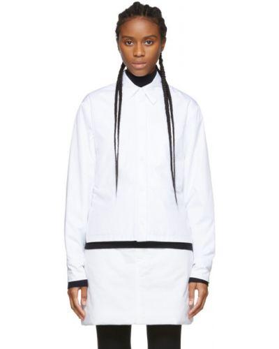 Ciepła biała koszula z długimi rękawami Sportmax