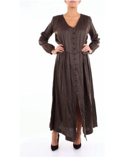Brązowa sukienka długa Momoni