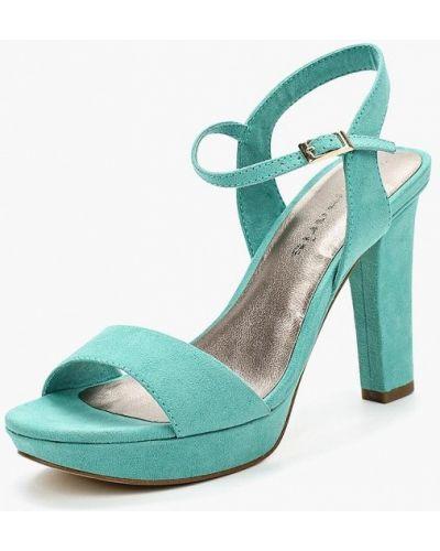 Зеленые босоножки на каблуке Tamaris
