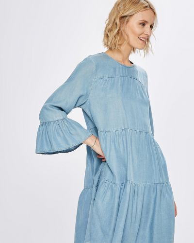 Платье мини с оборками Only
