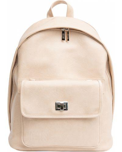 Beżowy plecak na laptopa skórzany Beis