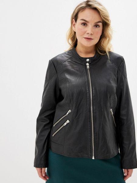 Кожаная куртка черная весенняя Junarose