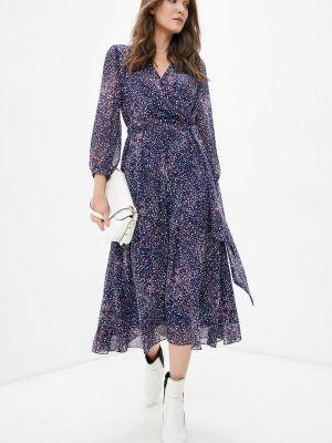 Синее платье на запах Shartrez
