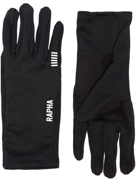 Czarne rękawiczki Rapha