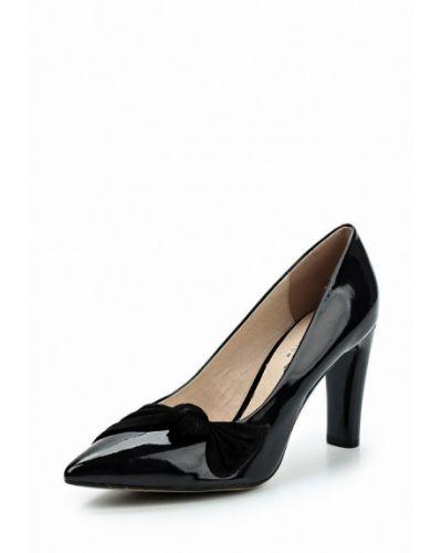 Черные туфли для офиса Caprice