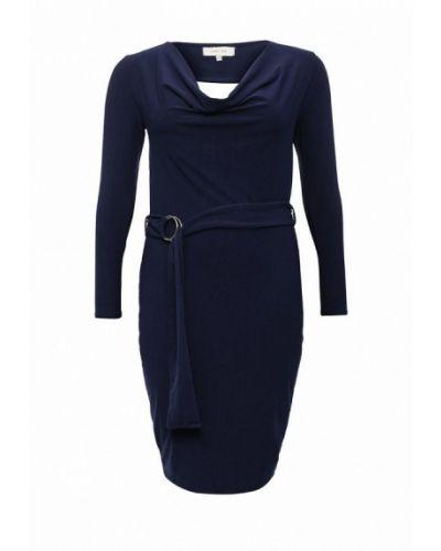 Синее платье осеннее Lost Ink Curve
