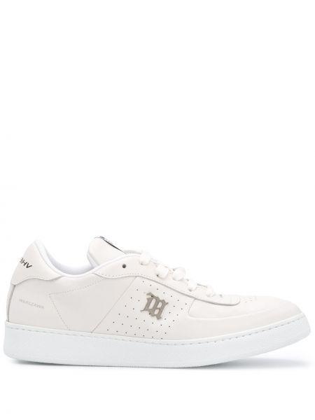 Skórzane sneakersy białe perforowany Misbhv