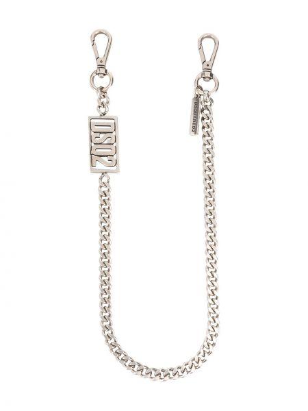 Серебряная цепь металлическая Dsquared2