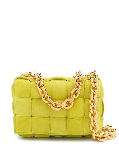 Żółty złoty torebka na łańcuszku Bottega Veneta