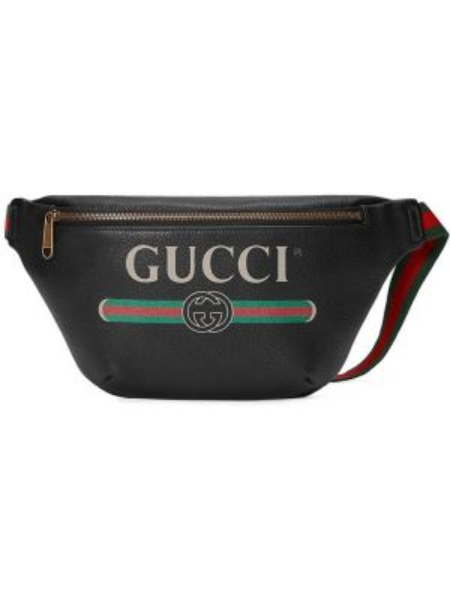 Поясная сумка кожаная винтажная Gucci