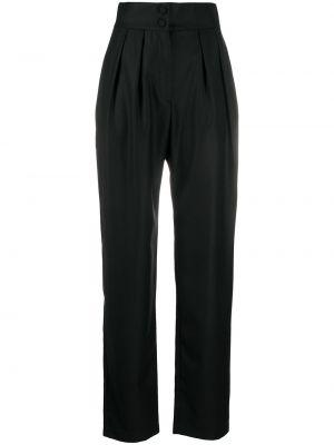 Черные плиссированные брюки на пуговицах с высокой посадкой Matériel