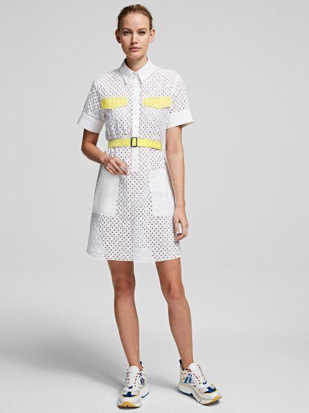 Брендовое платье-рубашка для офиса Karl Lagerfeld