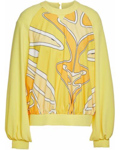 Желтый топ из крепа Sara Battaglia