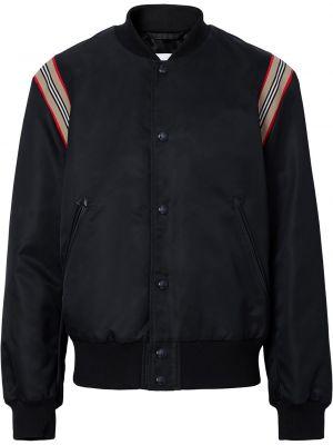 Bawełna czarny długa kurtka z kieszeniami z długimi rękawami Burberry