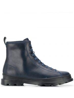 Синие кожаные ботинки на шнуровке Camper