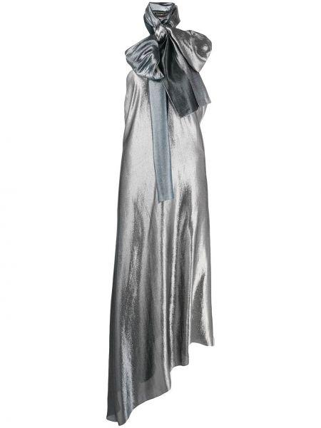 Sukienka wieczorowa asymetryczna z jedwabiu bez rękawów Roland Mouret
