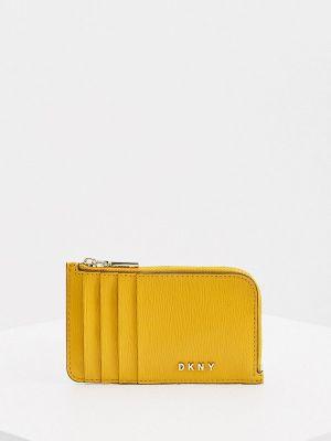 Желтый кожаный кошелек Dkny