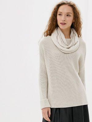 Бежевый весенний шарф Marytes