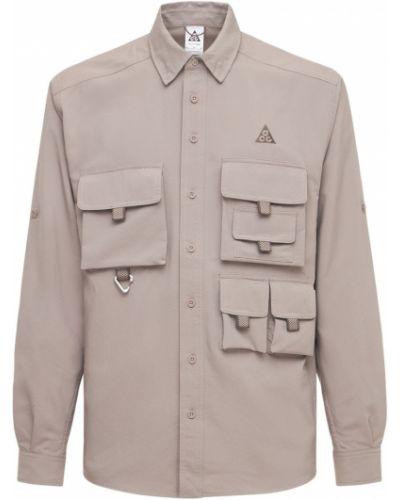Koszula khaki do pracy z siateczką Nike Acg