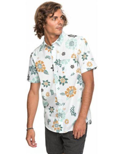 Белая рубашка с короткими рукавами Quiksilver