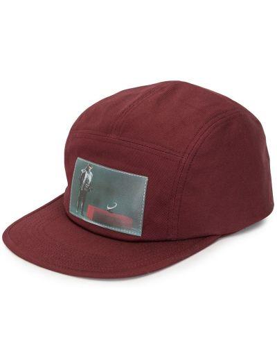 Czerwona czapka bawełniana z printem Undercover
