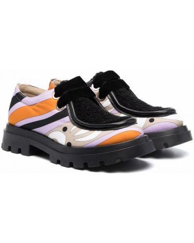 Loafers - czarne Emilio Pucci Junior