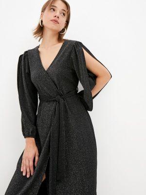 Черное вечернее платье осеннее Zibi London