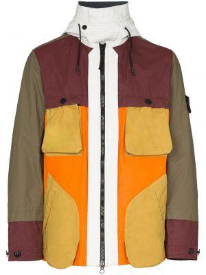 Куртка на молнии - зеленая Stone Island