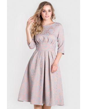 Вечернее платье осеннее бежевое Filigrana